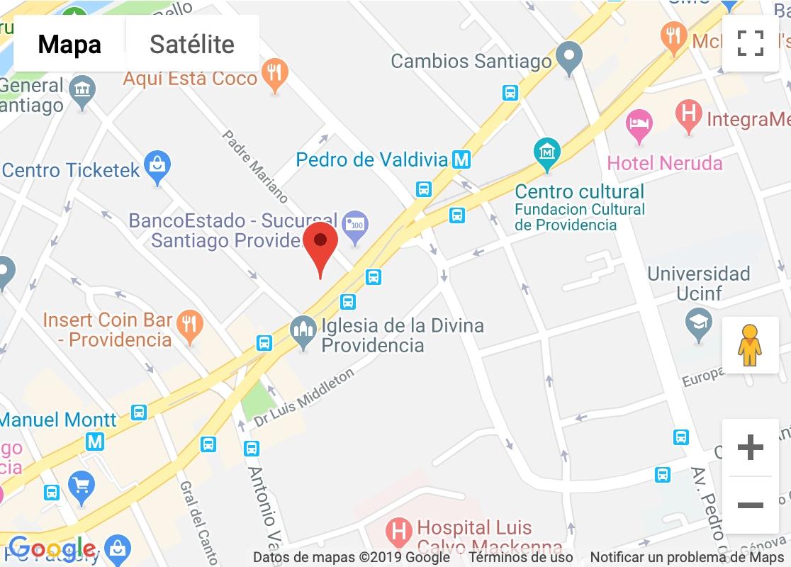 Mapa ubicación oficina de soapautos.cl